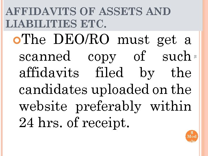AFFIDAVITS OF ASSETS AND LIABILITIES ETC. The 81 DEO/RO must get a scanned copy