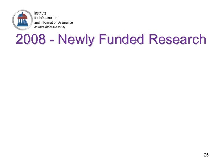 2008 - Newly Funded Research 26