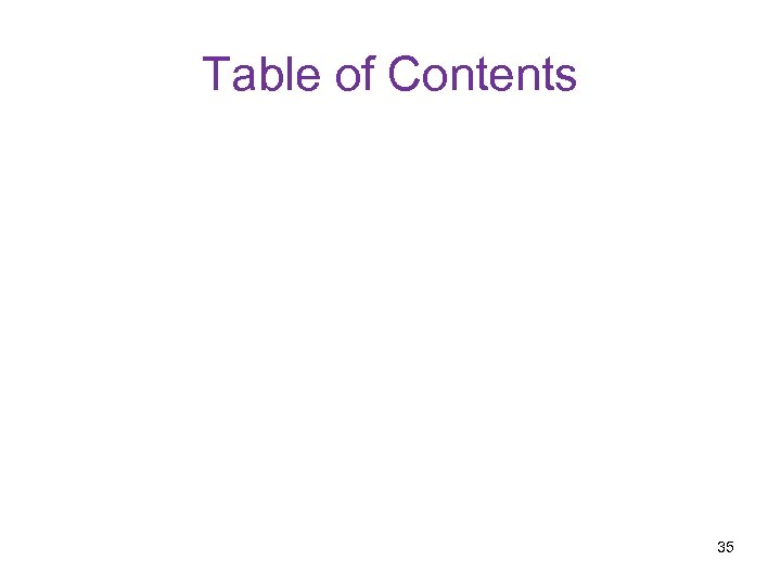 Table of Contents 35