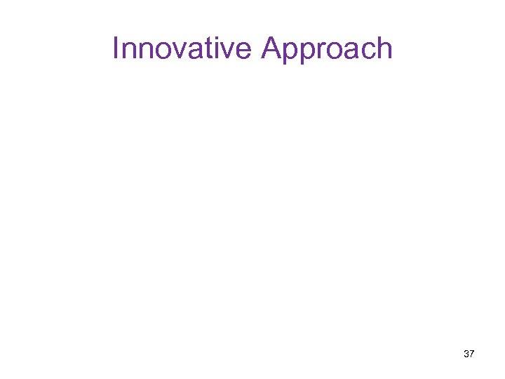Innovative Approach 37