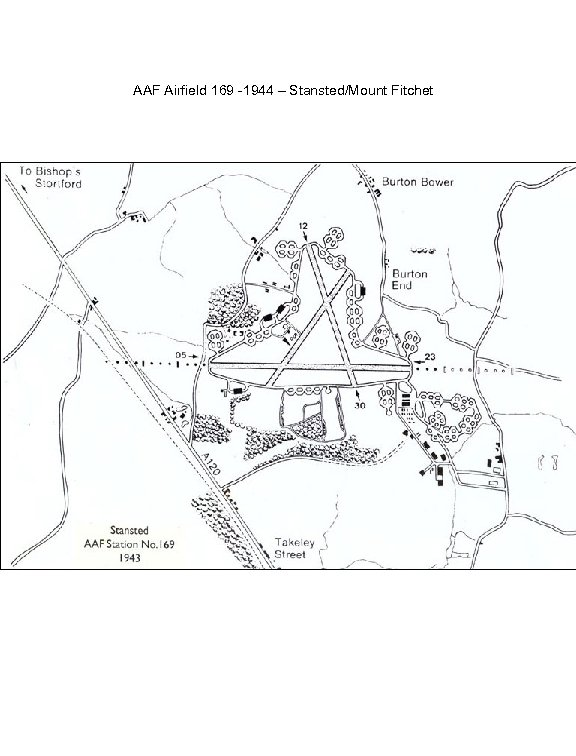 AAF Airfield 169 -1944 – Stansted/Mount Fitchet