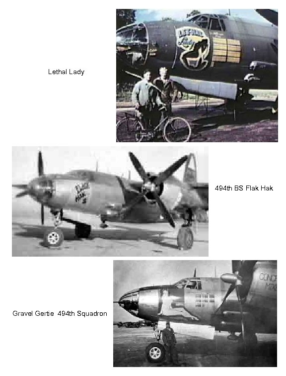 Lethal Lady 494 th BS Flak Hak Gravel Gertie 494 th Squadron