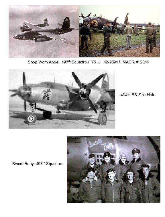 Shop Worn Angel 495 th Squadron Y 5 J 42 -95917 MACR #12344 494