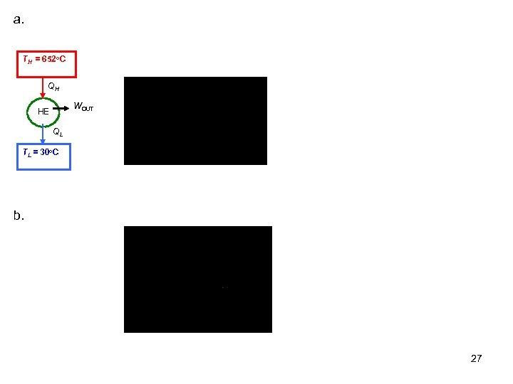 a. TH = 652 o. C QH WOUT HE QL TL = 30 o.