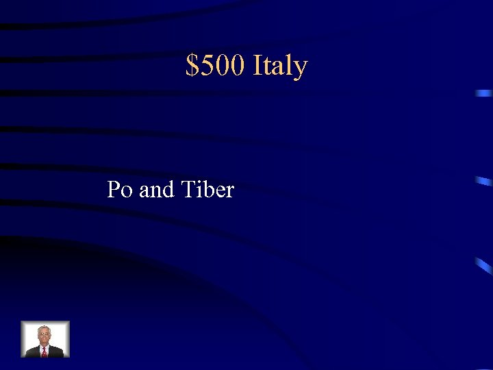 $500 Italy Po and Tiber