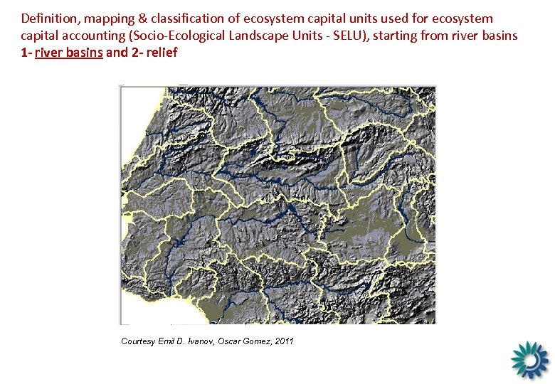 Definition, mapping & classification of ecosystem capital units used for ecosystem capital accounting (Socio-Ecological