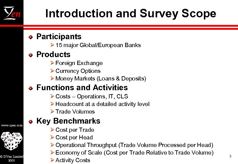 Introduction and Survey Scope Participants Ø 15 major Global/European Banks Products Ø Foreign Exchange