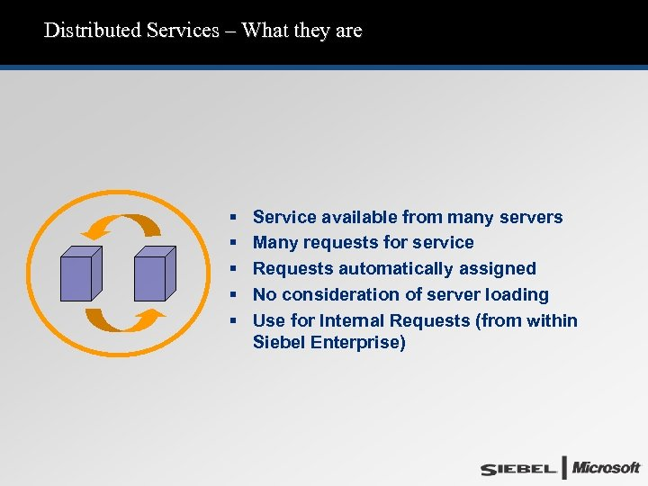 Distributed Services – What they are § § § Service available from many servers