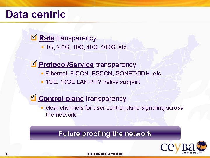 Data centric P q Rate transparency § 1 G, 2. 5 G, 10 G,