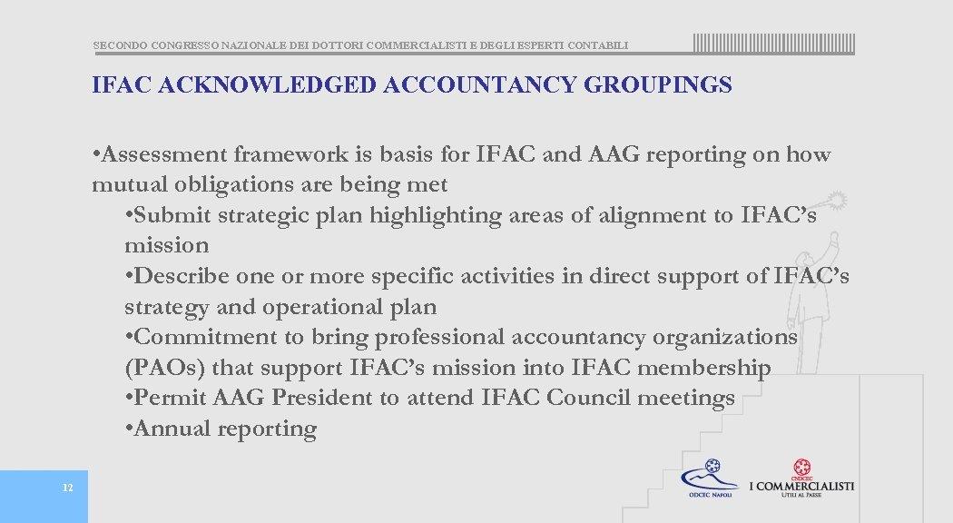 SECONDO CONGRESSO NAZIONALE DEI DOTTORI COMMERCIALISTI E DEGLI ESPERTI CONTABILI IFAC ACKNOWLEDGED ACCOUNTANCY GROUPINGS