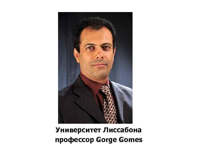 Университет Лиссабона профессор Gorge Gomes
