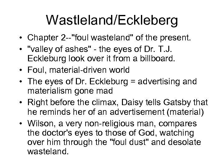 Wastleland/Eckleberg • Chapter 2 --