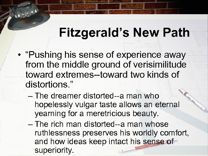 """Fitzgerald's New Path • """"Pushing his sense of experience away from the middle ground"""