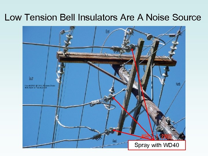 Low Tension Bell Insulators Are A Noise Source Spray with WD 40