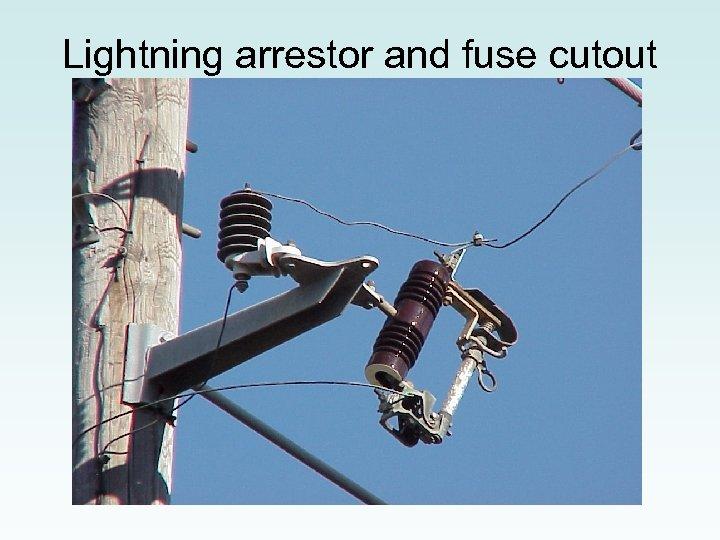 Lightning arrestor and fuse cutout