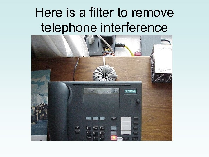 Here is a filter to remove telephone interference