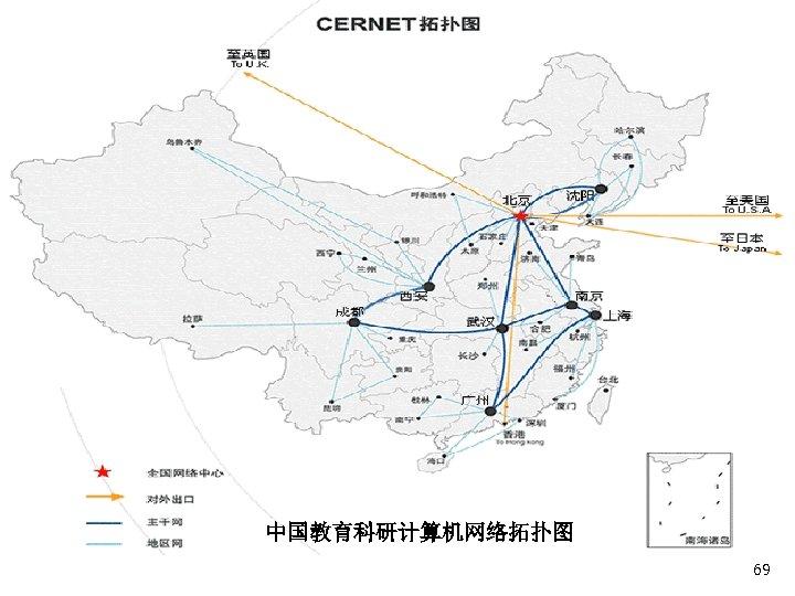 中国教育科研计算机网络拓扑图 69
