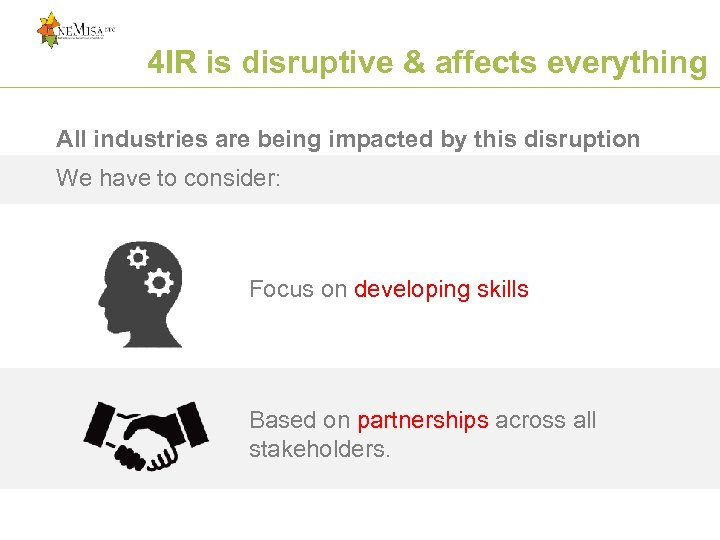 4 IR is disruptive & affects everything All industries are being impacted by this