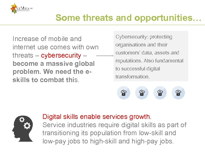Some threats and opportunities… Increase of mobile and internet use comes with own threats