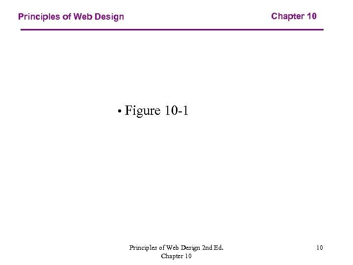 Chapter 10 Principles of Web Design • Figure 10 -1 Principles of Web Design