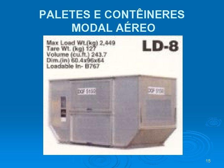 PALETES E CONTÊINERES MODAL AÉREO 15