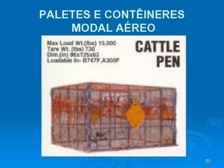 PALETES E CONTÊINERES MODAL AÉREO 20