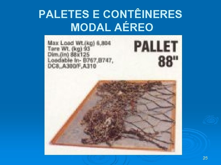 PALETES E CONTÊINERES MODAL AÉREO 25