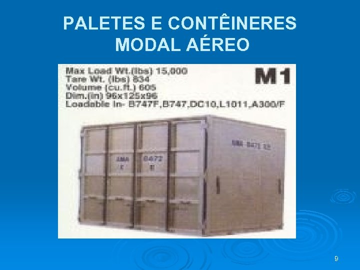 PALETES E CONTÊINERES MODAL AÉREO 9