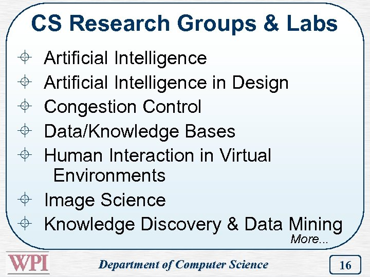 CS Research Groups & Labs ± ± ± Artificial Intelligence in Design Congestion Control