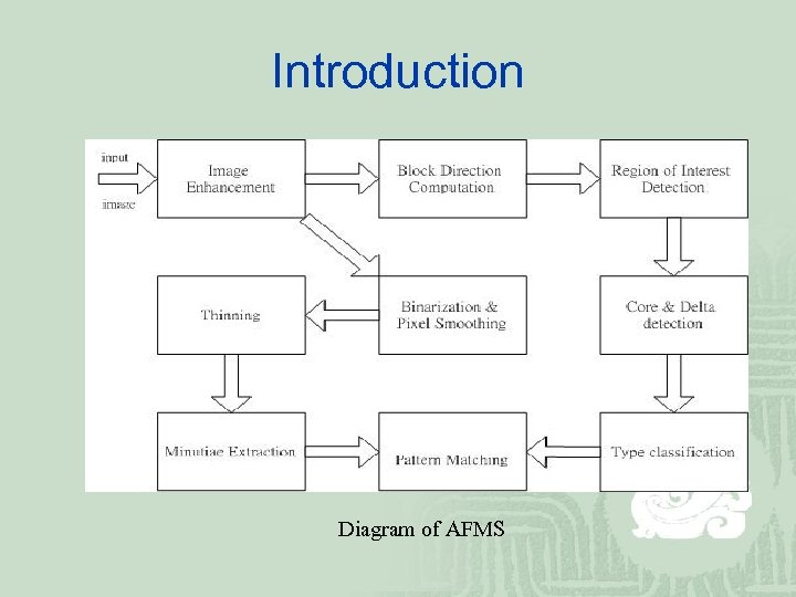 Introduction Diagram of AFMS