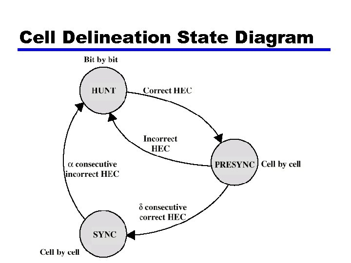 Cell Delineation State Diagram