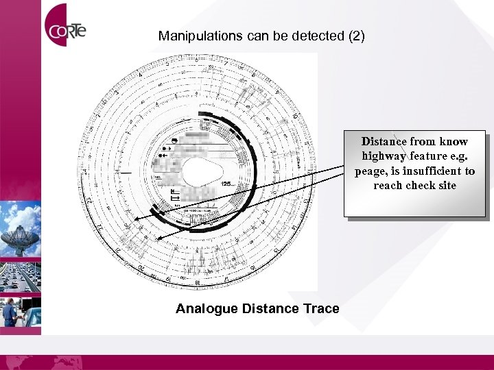 Manipulations can be detected (2) Distance from know highway feature e. g. peage, is