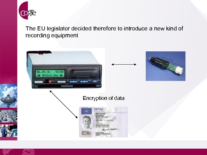 The EU legislator decided therefore to introduce a new kind of recording equipment Encryption