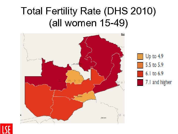Total Fertility Rate (DHS 2010) (all women 15 -49)