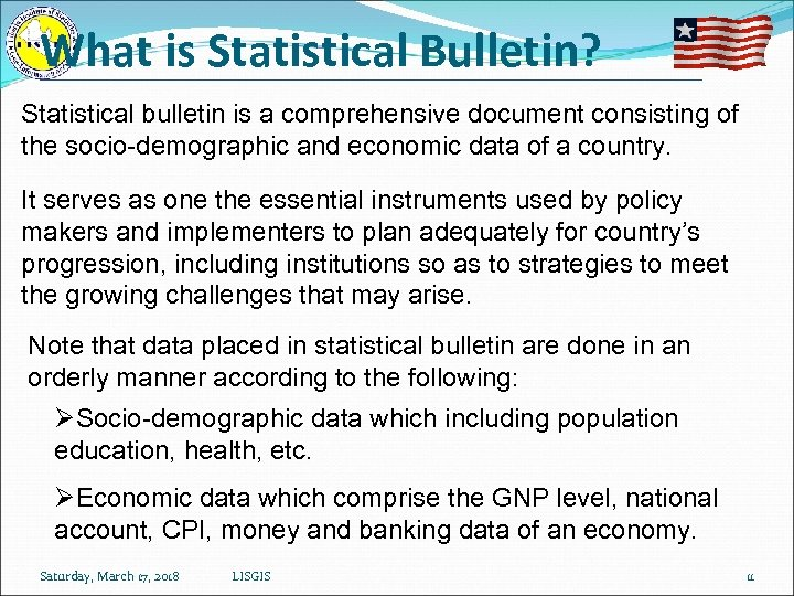 What is Statistical Bulletin? Statistical bulletin is a comprehensive document consisting of the socio-demographic