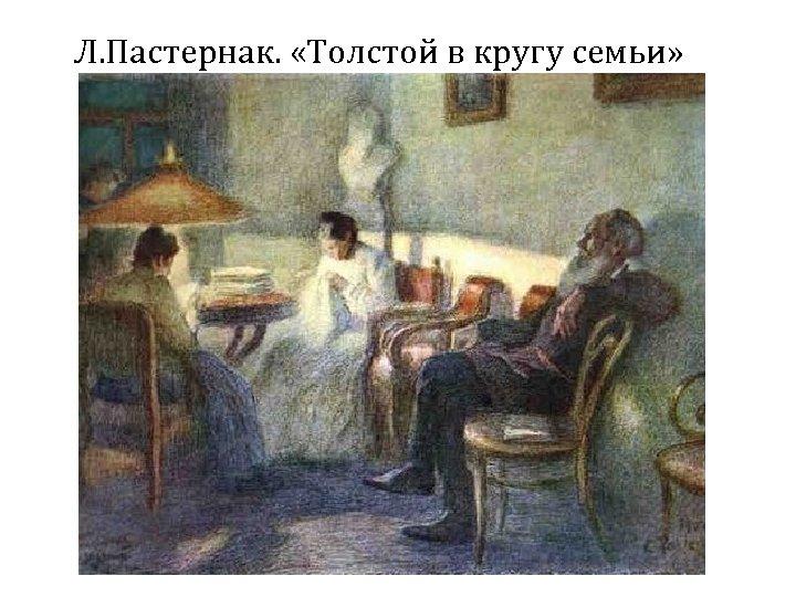 Л. Пастернак. «Толстой в кругу семьи»