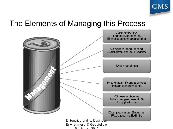 The Elements of Managing this Process Enterprise and its Business Environment © Goodfellow