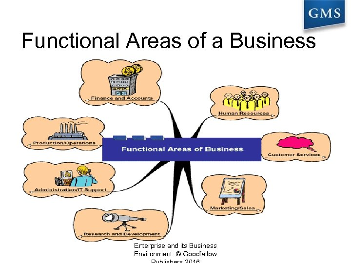 Functional Areas of a Business Enterprise and its Business Environment © Goodfellow