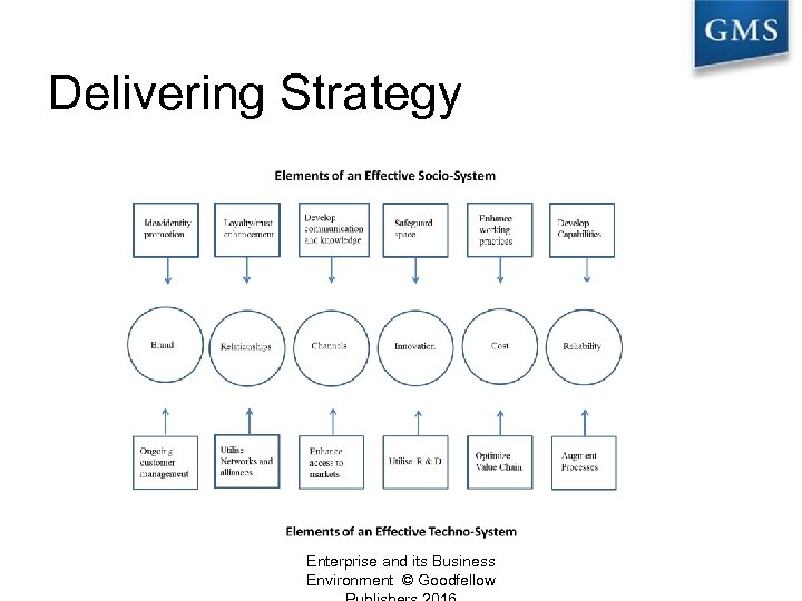 Delivering Strategy Enterprise and its Business Environment © Goodfellow