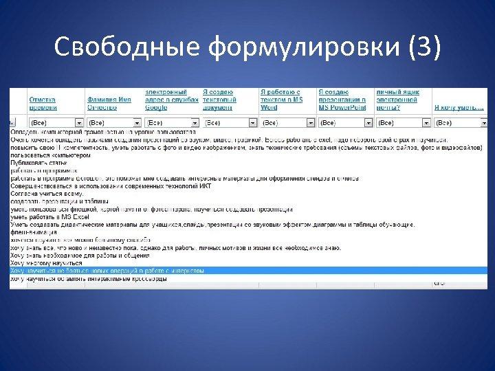 Свободные формулировки (3)
