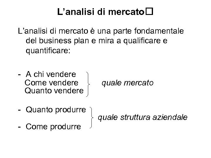 L'analisi di mercato è una parte fondamentale del business plan e mira a qualificare