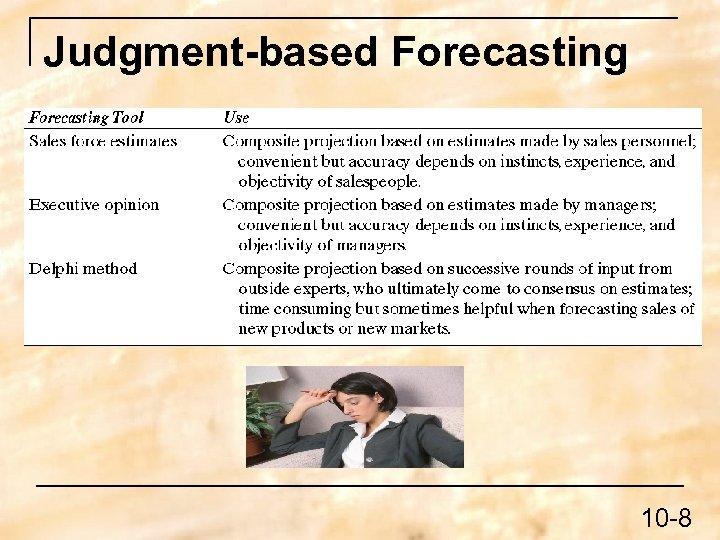 Judgment-based Forecasting 10 -8