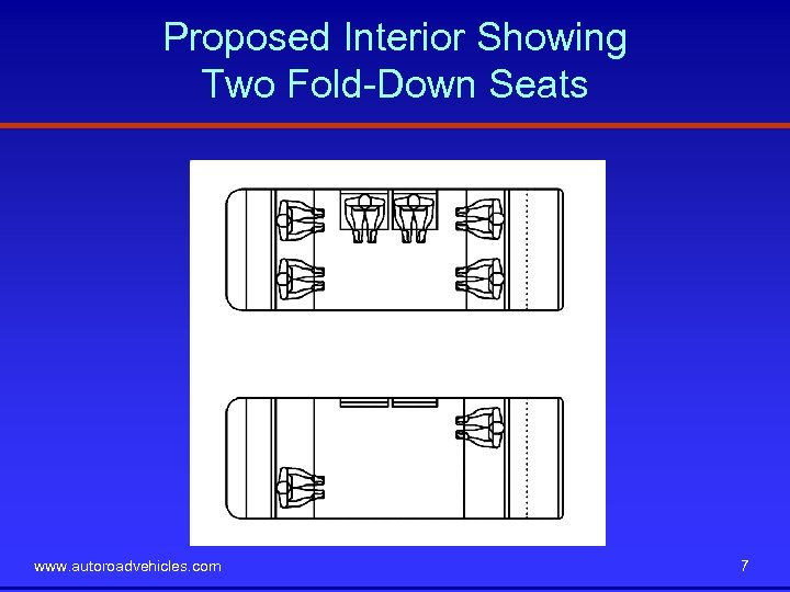 Proposed Interior Showing Two Fold-Down Seats www. autoroadvehicles. com 7