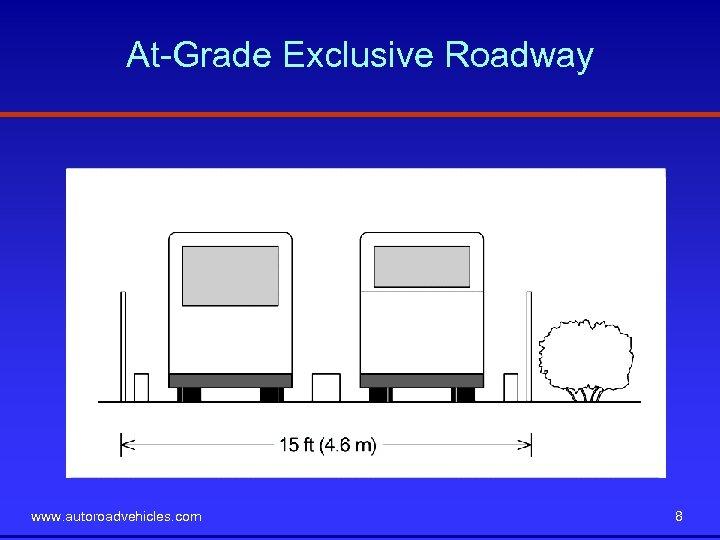 At-Grade Exclusive Roadway www. autoroadvehicles. com 8
