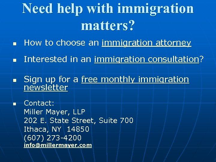 Need help with immigration matters? n How to choose an immigration attorney n Interested