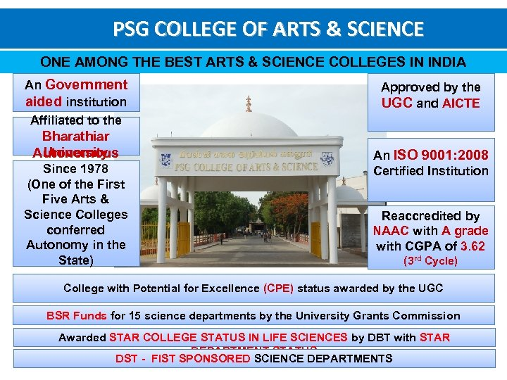 Psg College Of Arts Science A Temple