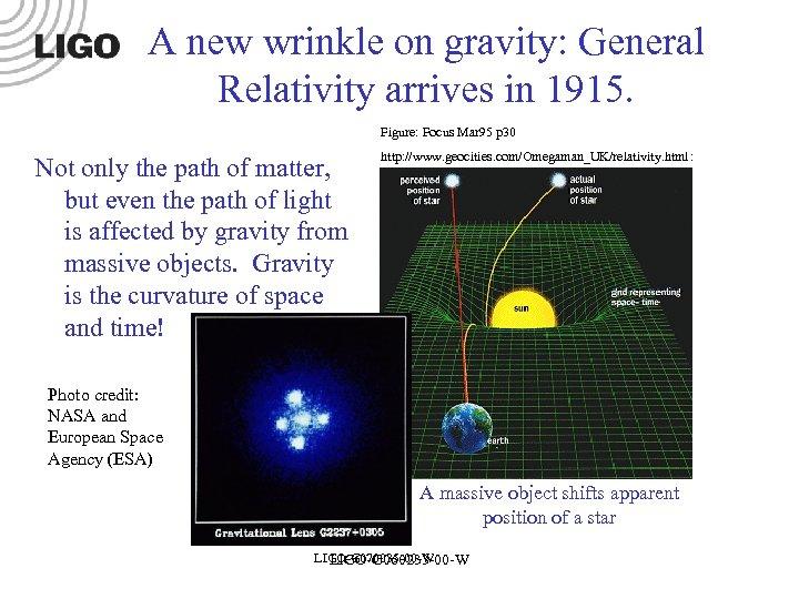 A new wrinkle on gravity: General Relativity arrives in 1915. Figure: Focus Mar 95