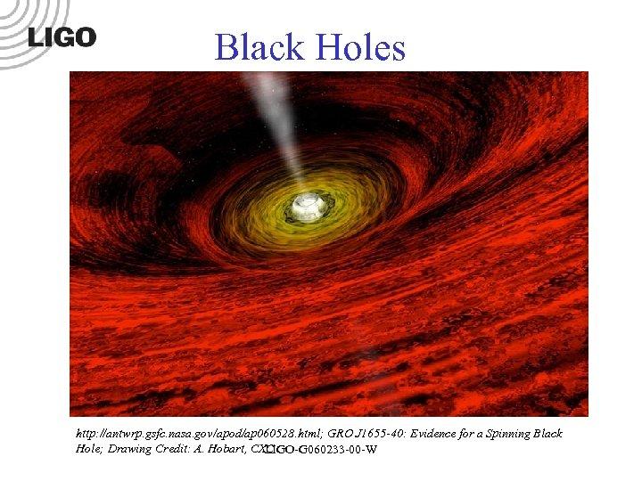 Black Holes http: //antwrp. gsfc. nasa. gov/apod/ap 060528. html; GRO J 1655 -40: Evidence