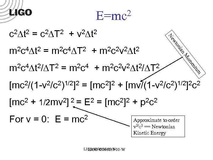 E=mc 2 tum en m 2 c 4 t 2/ T 2 = m
