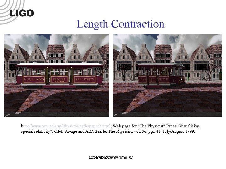 Length Contraction http: //www. anu. edu. au/Physics/Searle/paper 2. html; Web page for
